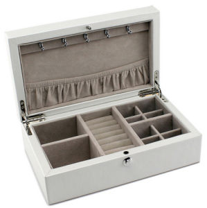 White Lacquering Jewelry Storage Box pictures & photos