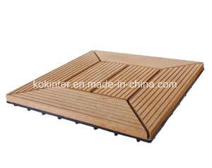 Waterproof WPC DIY Floor Tiles, Non-Slip Interlocking Floor Tiles, WPC Interlocking Plastic Base Deck pictures & photos