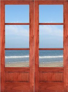 Interior Modern Solid Teak Wood Door Price pictures & photos
