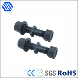 High Strength Hex Head Bolt Nut Carbon Steel Wheel Stud Bolts with Hex Flange Nut pictures & photos