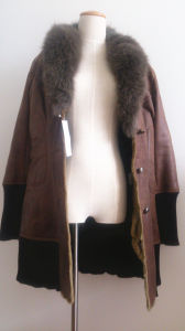 Natural Fur Vest Natural Fur Collar Es07 pictures & photos