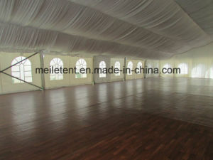 500 People Luxury Lining Tent with Wooden Flooring Wedding Marquee pictures & photos
