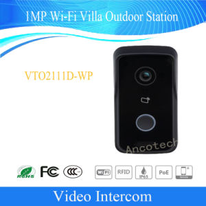Dahua 1MP Wi-Fi Villa Video Intercom System Door Phone Doorbell Home Security CCTV Outdoor Station (VTO2111D-WP) pictures & photos