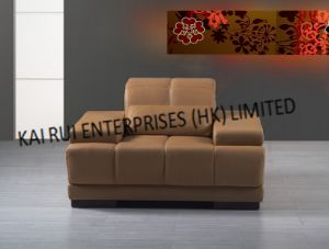 PVC Brown Modern Arm Sofa pictures & photos