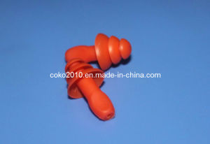 Orange Swimming Thrre Flange Silicon Earplugs pictures & photos