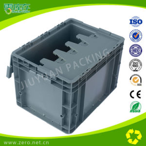 24L Nesting and Stacking Plastic Moving Attached Lid Container for Packing pictures & photos