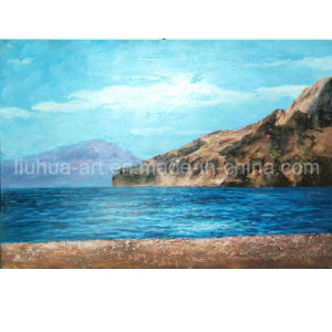 China Factory Silence Mountain Seascape Oil Painting for Wholesale Wall Decor (LH-098000) pictures & photos