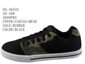 No. 49535 Size 39-48# Black Color Men Skate Stock Shoes pictures & photos