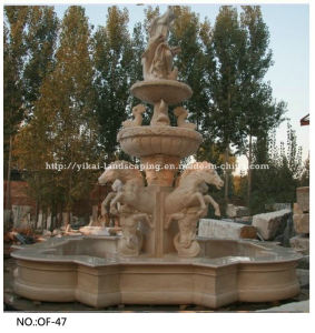 Carved Stone Water Granite Fountain for Outdoor Decor (YKOF-47)