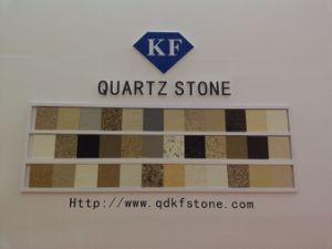 KF-315 Olive Green Quartz Stone for Bathroom Tops pictures & photos