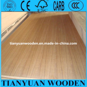 1220*2440*3.5mm Straight Line/Rotary Golden Teak Fancy Plywood pictures & photos