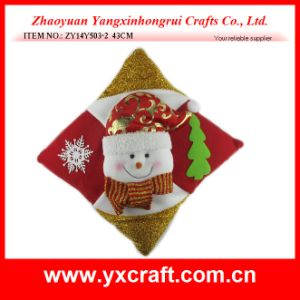 Christmas Decoration (ZY14Y503-2) Christmas Santa Cushion Item Decoration pictures & photos