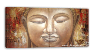 Abstract Buddha Face Oil Painting (SJMY2866)