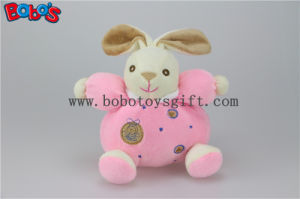 """5.9""""China Plush Baby Toy Cute Soft Pink Rabbit Bunny Animals with Ring Rattle pictures & photos"""