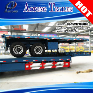 China Cheap Price 20 Feet Flat Bed Container Semi Trailer pictures & photos