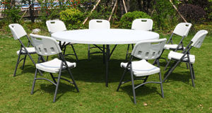 Cheap Modern Plastic Banquet Folding Round Table Folding Dining Table (M-X1206) pictures & photos