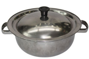 18cm Stainless Steel Stewpot with Stainless Steel Lid pictures & photos