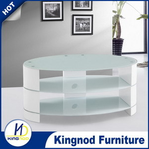Cheap Glass Top High Gloss TV Table Stand pictures & photos