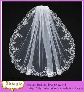 Tulle White Appliques Wedding Veil (MI 3561) pictures & photos