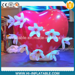 Hot-Sale Wedding Use Inflatable Red Heart Decoration pictures & photos