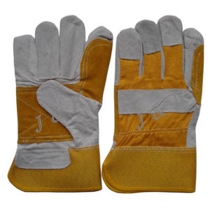 Cow Split Leather Glove Leather Gloves Working Gloves pictures & photos