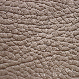 Embossed Suede Leather Compound Cloth Fabric for Home Decoration pictures & photos