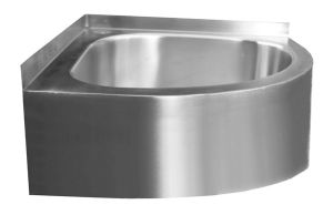 Wall Mounted Corner Hand Wash Basin, Stainless Steel Hand Wash Sink ...