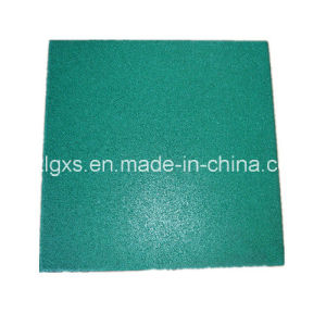 EPDM Green Rubber Floor Tiles pictures & photos