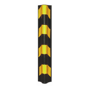 Round Angle Reflective Rubber Wall Corner Protector Pjcp105
