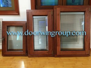 European Quality Solid Wood Aluminum Window and Wood Grain Finish Aluminum Windows pictures & photos