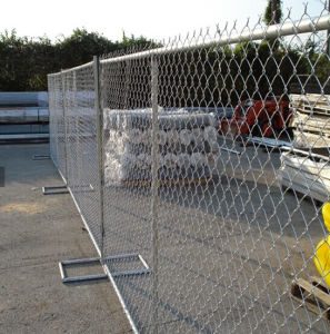 6ftx8FT Canada Temporary Chain Link Fence, Galvanized Chain Link Temporary Fence pictures & photos