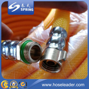 High Pressure 3 Layers 120 Bar PVC Garden Hose pictures & photos