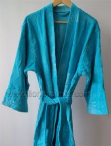 Logo Embroidery Hotel/Resorts Cotton Velvet Toweling Bathrobe pictures & photos