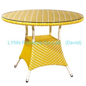 Yellow Rattan Coffee Table Wicker Furniture pictures & photos