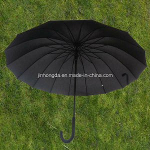 "25""X12k Metal All Black Frame Straight Sun Umbrella (YSS0078) pictures & photos"