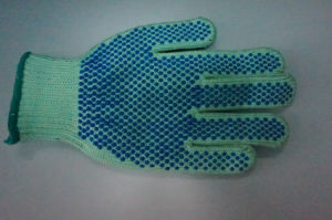 T/C Shell Latex Dots Safety Work Gloves (L9500) pictures & photos