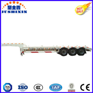 3axles 80tons Low Bed Trailer/Lowboy Utility Truck Tractor Semi Trailer pictures & photos