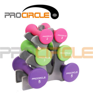 Portable Vinyl/ Neoprene Dipping Dumbbell Set with Stand (PC-DR3001) pictures & photos