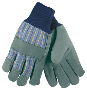 Shoulder Leather Working Gloves with Fleece Palm Lining