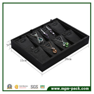 Luxury Handmade Black Wooden Jewelry Display Tray pictures & photos