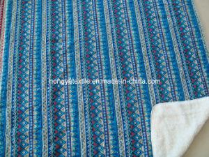 100% Cotton Ethnic Printed Super Soft Blanket, Reverse Quliting Sherpa Throw