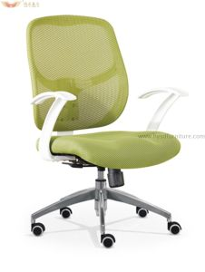 Wholesale Solid Plastic Armrests MID-Back Office Swivel Mesh Chair pictures & photos