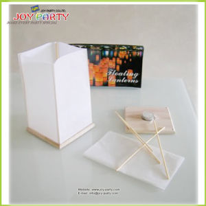 Wooden Base White Water Lantern for Ceremony Event Memorial Activity