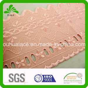 Wave Shape Edge Terylene Cotton Embroidery Lace