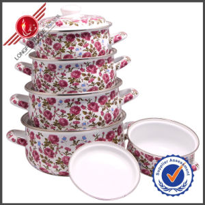 Graceful Cast Iron Enamel Cookware Set with Lid pictures & photos