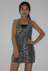 Ladies Sleeveless Sequins Dress (LDS-17)