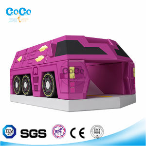 Cocowater Design Inflatable Air-Bus Theme Bouncer LG9009 pictures & photos