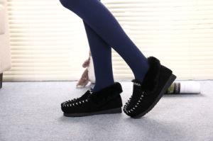 Classic Men Casual Indoor Shoe for Winter in Black pictures & photos