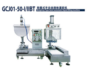 Semi-Automatic Weighing Type Liquid Filling Machine with Cap Sealing for Paint, Coating, Ink, Chemical pictures & photos