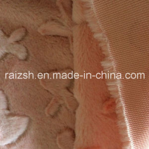100% Polyester Pink Velvet Cut Flowers PV Fleece Fabric